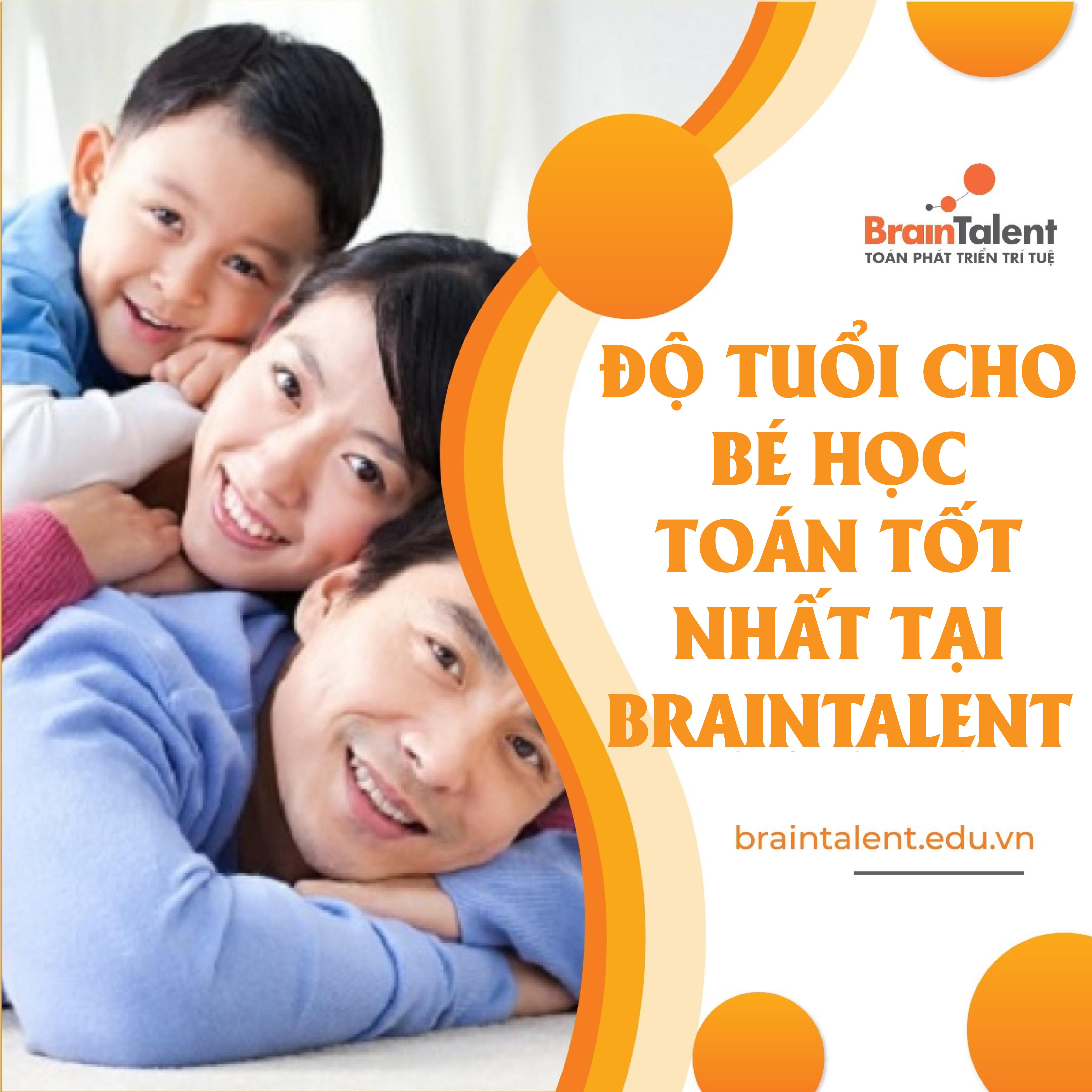 Toán phát triển trí tuệ BrainTalent dành cho độ tuổi nào?