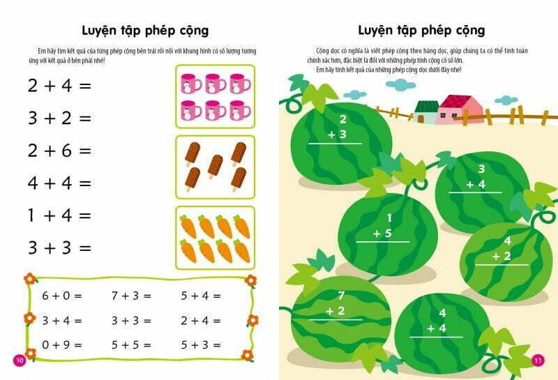 các dạng bài tập phổ biến của toán tư duy dành cho trẻ 5 tuổi