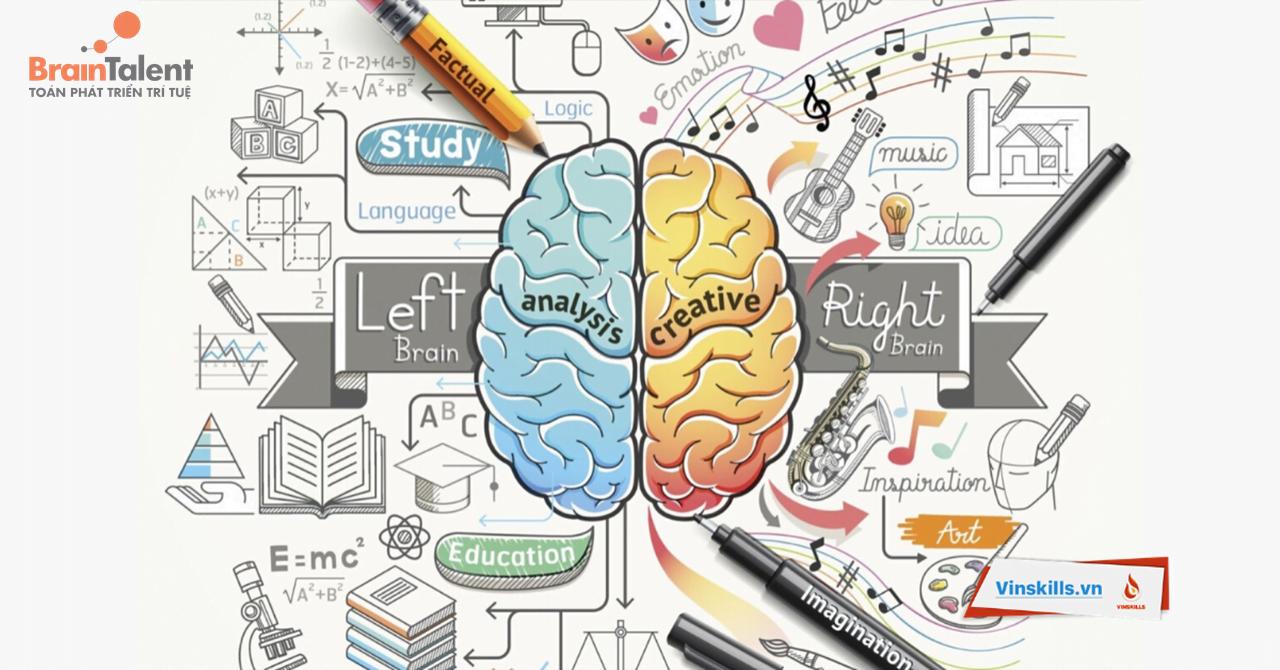 Kích hoạt đồng thời cả não trái và não phải sẽ giúp trẻ phát triển toàn diện
