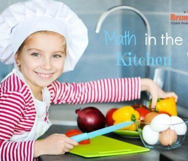 Cách học tốt môn Toán qua các tình huống trong nhà bếp