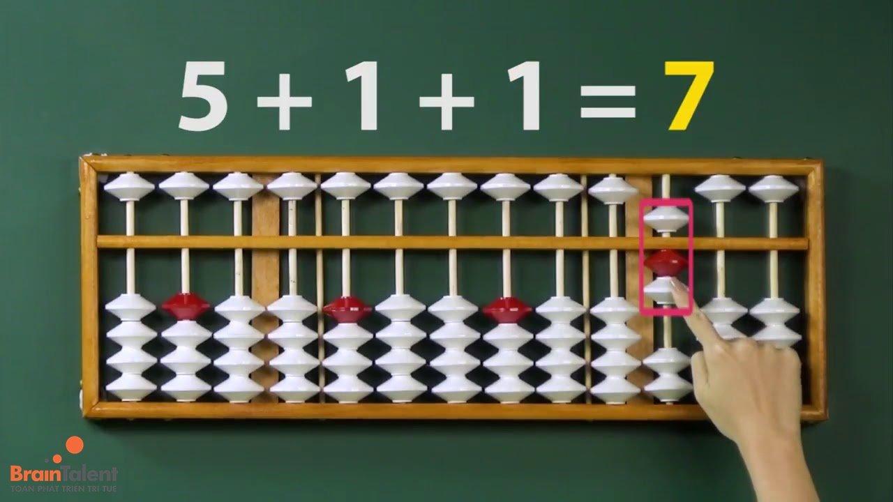 Thiết lập số trên bàn tính